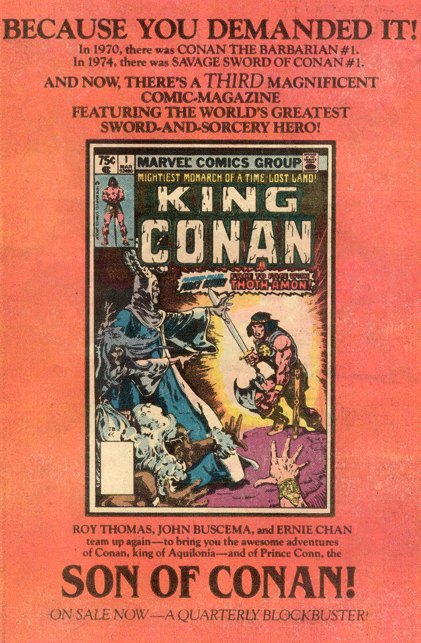 Conan the Barbarian (1970) Issue #109 #121 - English 19