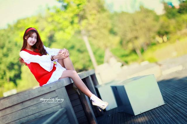 4 Park Hyun Sun outdoor - very cute asian girl-girlcute4u.blogspot.com