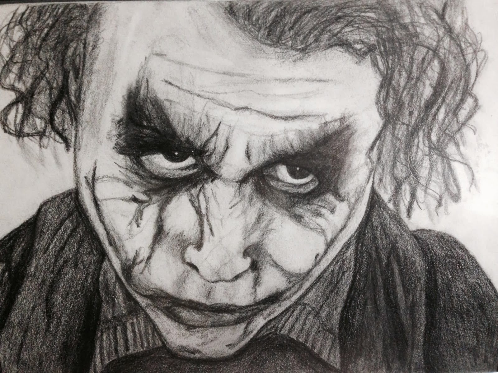 graphite drawings why so serious