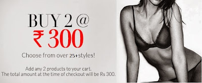 Get any 2 Biara Bra or Brief just for Rs.300 Only at Zivame