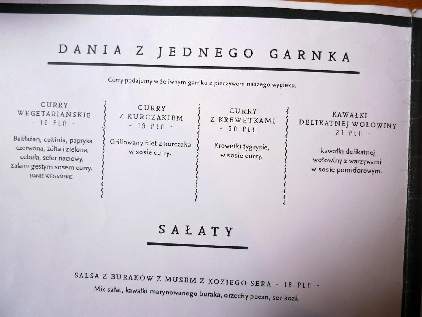 łódź restauracja drukarnia menu