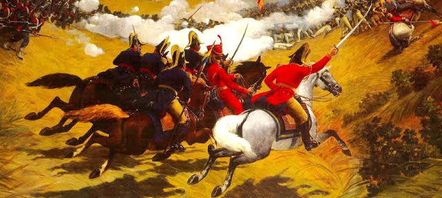 Dibujo de la Batalla de Carabobo