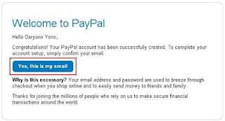 Cara Daftar Paypal Gratis Terbaru