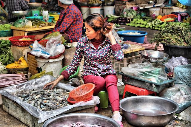 Vendeuse de crevettes