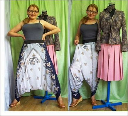Как сшить  штаны саруэл, алладины, афгани или султанки Saruel pants, Aladdin, Afghanis from headscarf