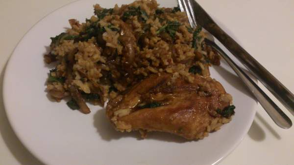 Terriyaki Chicken, rice and vegetables