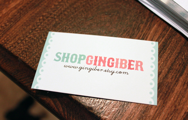 Gingiber business basics the business card one of my 1st business cards though cute had no real direction it said gingiber with my etsy shop address and no mention of what it was that gingiber colourmoves