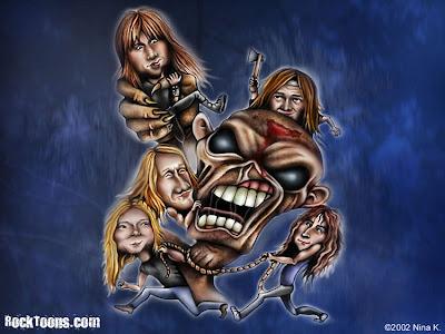 Iron Maiden caricatura