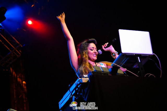Nadine ann Thomas - DJ of the night who did opening for OneRepublic Live in Malaysia