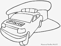 Mewarnai Gambar Mobil Polisi