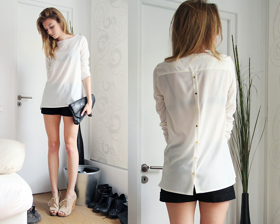 Outfits Blusa Blanca Casual