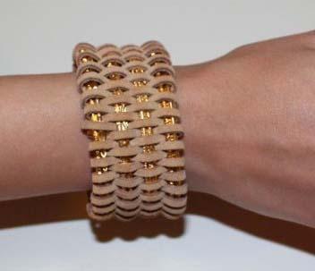 leather wrapped bracelet DIY tutorial