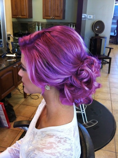 Purple hair dye for women