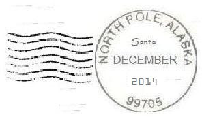 2014 North Pole Postmark