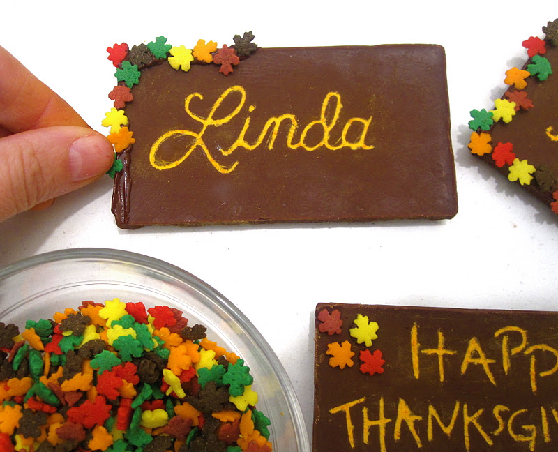 Video Diy Toothpick Engraved Chocolate Bar Thanksgiving Place Cards