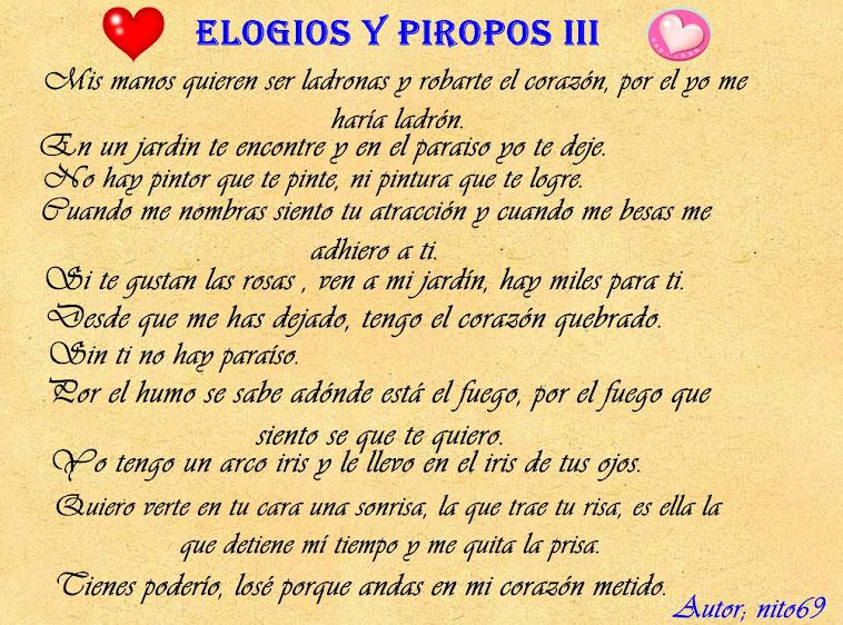 ELOGIOS Y PIROPOS III