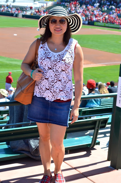 Angels spring training, lace, red white and blue, baseball game outfit