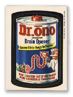 1960s 1970s wacky packs nostalgic memories ad stickers dr. ono draino