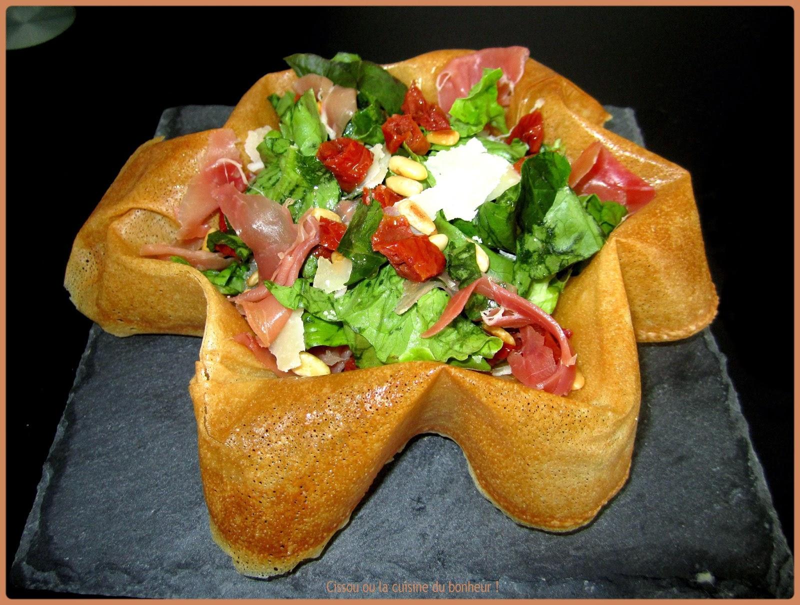 Cissou ou la cuisine du bonheur et blabla en tout genre salade italienne dans sa feuille de - Cuisiner la feuille de brick ...