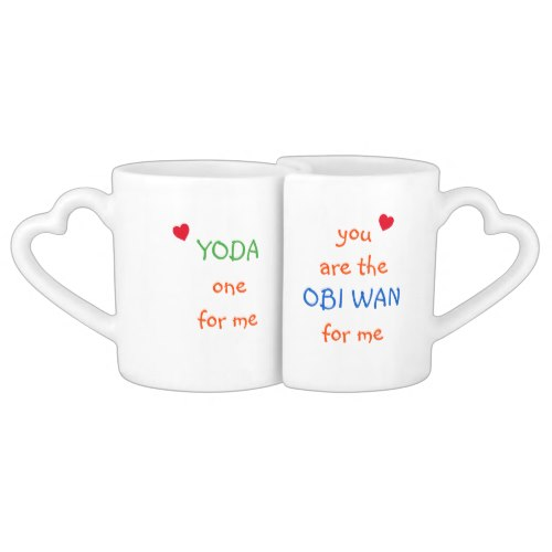 Yoda One Obi Wan For Me | Fun Cute Lovers Mug Set