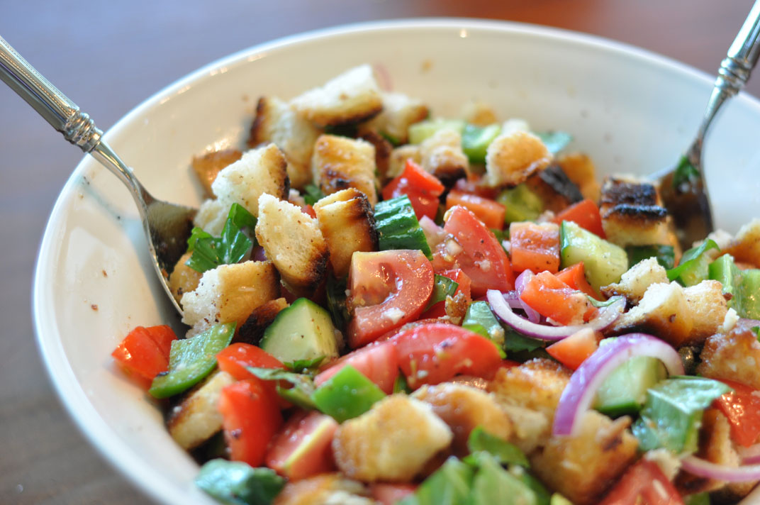 Into the frahers my favorite summertime salad Barefoot contessa panzanella