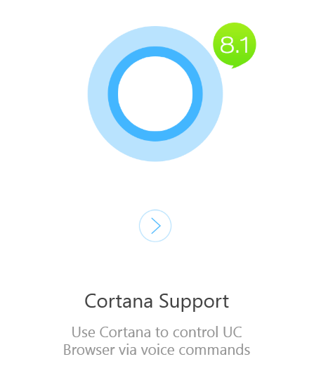 uc browser cortana