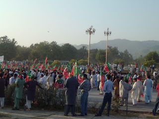 PTI rally against drone attacks in Islamabad