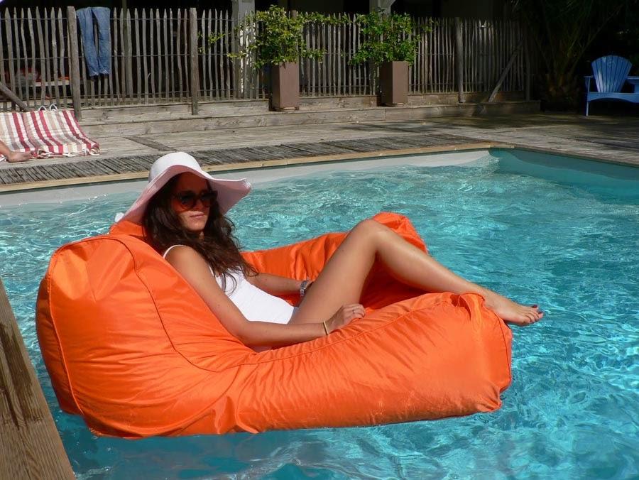 La fabrique d co poufs et coussins de sol pour d corer - Pouf piscine waterproof ...