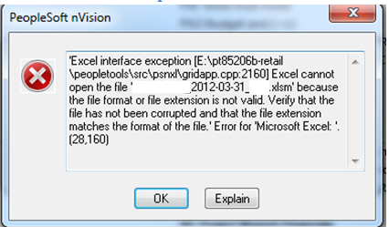 PeopleSoft nVision Issue Resolution nVision 3tier Known Errors – Nvision Peoplesoft