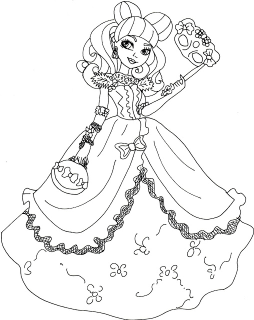 Free printable ever after high coloring pages blondie for Ever after high free coloring pages