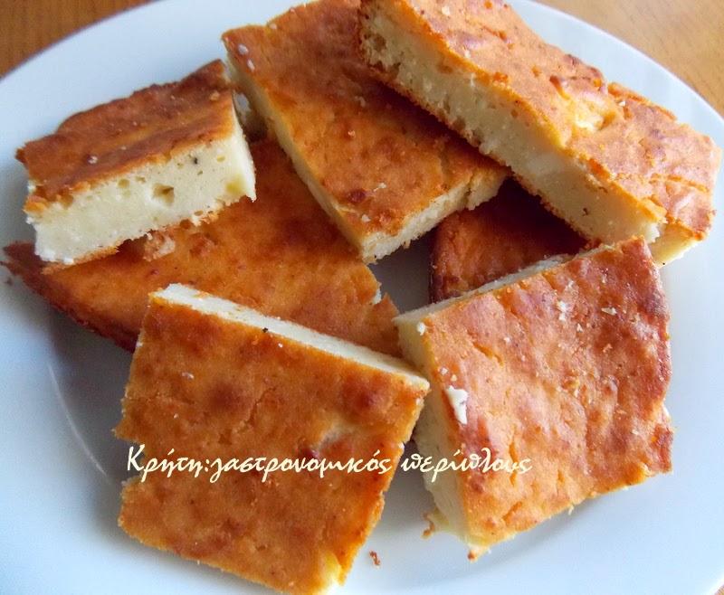 Τυρόπιτα φούρνου με ξινομυζήθρα (χωρίς φύλλο)