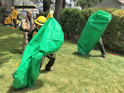 New seasonal firefighters learn to deploy fire shelters