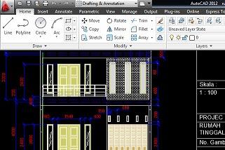 Jasa desain denah Rumah Drafting gambar teknis AutoCad Solidworks