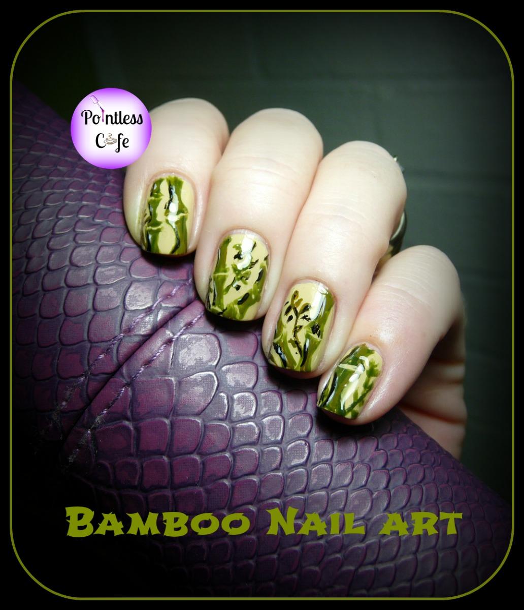 Nail Art Theme Week: Japanese - Bamboo Nails | Pointless Cafe