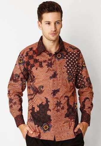 Model baju batik lengan panjang untuk pria