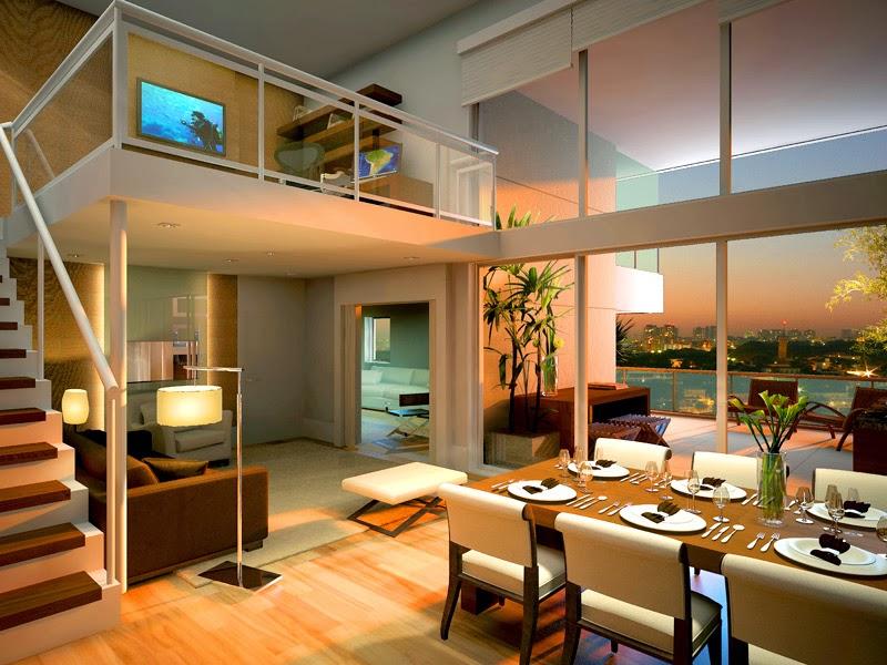 Casa com p direito duplo como decorar veja dicas e for Fotos de apartamentos bonitos