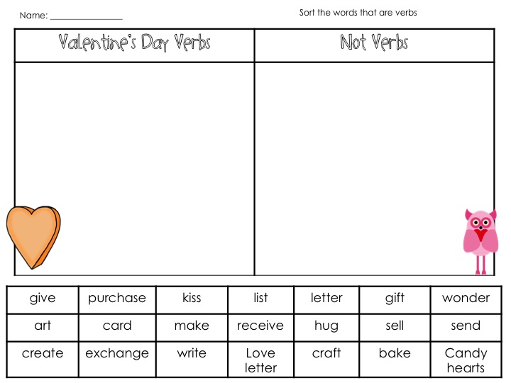 Valentines day poetry grammar review fancy free in fourth lastly are 2 poetry templates that engage the students in utilizing their senses and connecting with valentines day i provided 2 templates to help pronofoot35fo Images