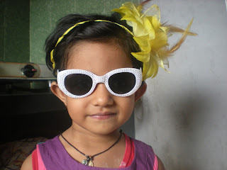 baby girls images wearing goggles and headbands