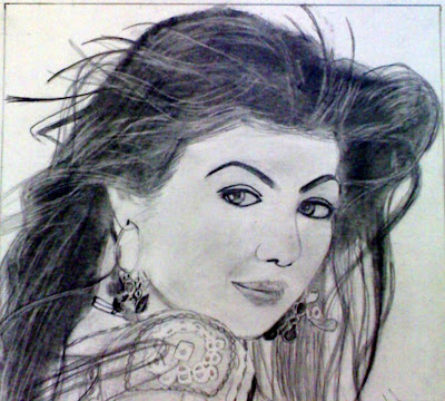 Sketches of  Romantic Actress HD Wallpapers