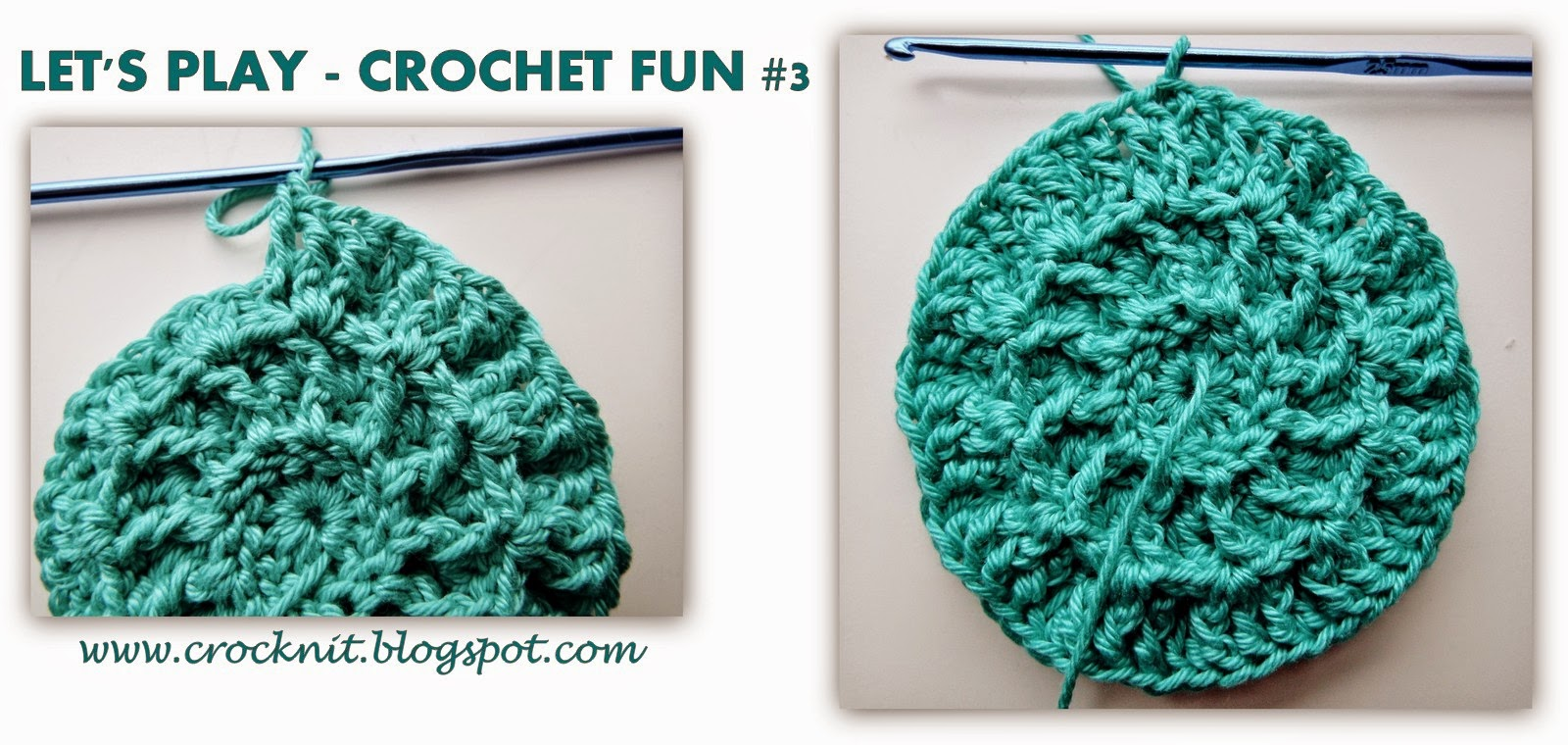 free pattern crochet makeup remover pads