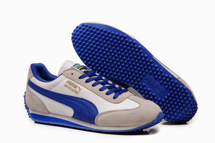 Authentic Puma 90 Classical Men Gray Blue Shoes C007PUA139