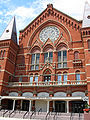 Over the Rhine naam geschiedenis - Cincinnati-Music-Hall-entrance