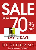Debenhams Last 3 Days Sale