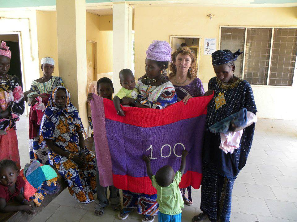 This was our 100th  blanket in Gambia xx