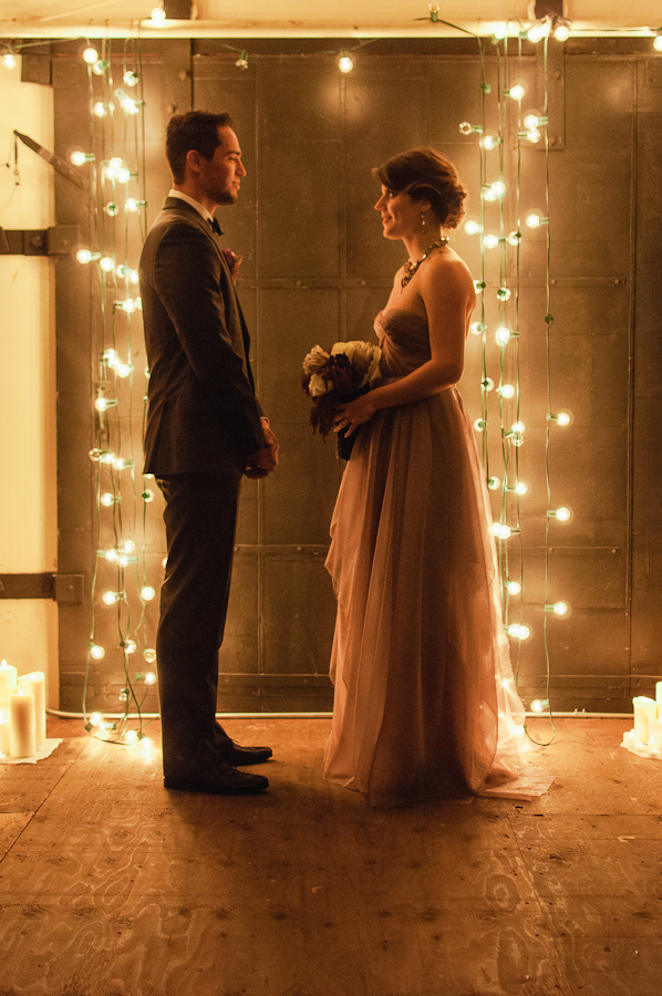 low light wedding ceremony photo