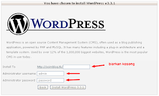 Cara Install Wordpress di Hosting Gratis