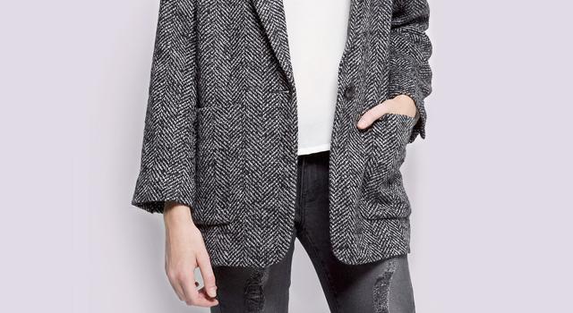 Abrigo lana gris mango