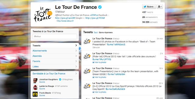 Compte Twitter du Tour de France