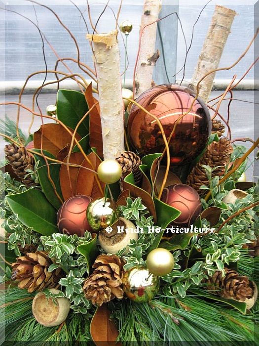 Christmas Decorating Ideas For Outdoor Urns : Heidi horticulture outdoor winter container designs