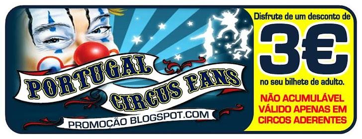 Bilhete Promocional Portugal Circus Fans